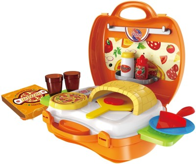 Toys Bhoomi Kids Bring Along Pizza Oven Suitcase Set - 22 Pieces