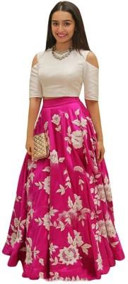 77cacd32167 shelvinzas Embroidered Semi Stitched Lehenga Choli(Pink)