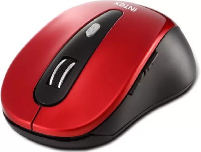 Intex SHINY Wireless Optical Mouse(Bluetooth, Black, Red)  available at flipkart for Rs.450