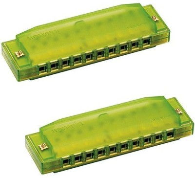 Hohner Kids Bpa Free Translucent Harmonica 2 Pack - Green(Multicolor)  available at flipkart for Rs.3181