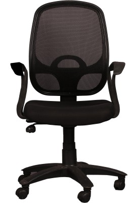 Ks chairs Fabric Office Arm Chair(Black)