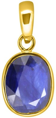 Tejvij and Sons 3.25 Ratti blue sapphire pendent ashthadhatu with gold plated for men & women… Gold-plated Sapphire Metal Pendant