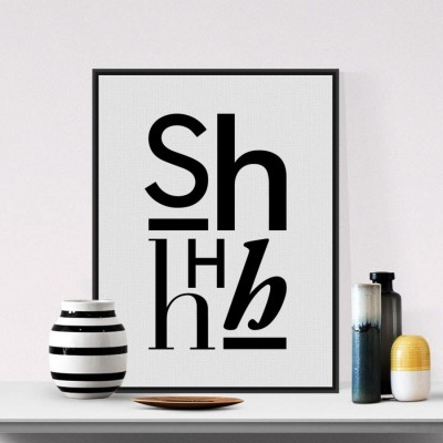 Modern Minimalist Black White Alphabet Typography Quotes A4 Art Print Poster Hipster Wall Picture Canvas Painting No Frame Decor (A3 size 12 in x 18 inch) 3D Poster(12 inch X 18 inch)  available at flipkart for Rs.149