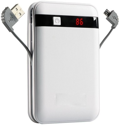 ECO 13000 mAh Power Bank White, Lithium ion