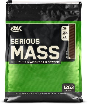 Optimum Nutrition Serious Mass Weight Gainers/Mass Gainers(5.44 kg, Chocolate)  available at flipkart for Rs.4749