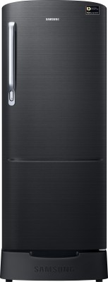Samsung 192 L Direct Cool Single Door 4 Star Refrigerator with Base Drawer(Black Inox, RR20N182YBS-HL) at flipkart