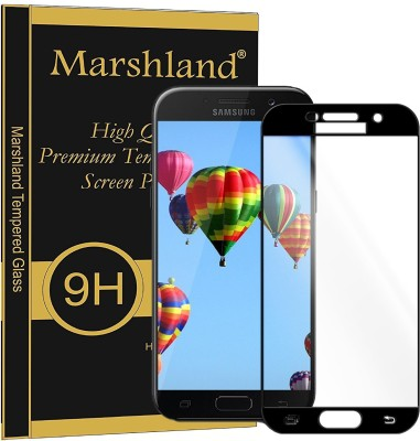 Marshland Tempered Glass Guard for SAMSUNG Galaxy A5, 5D Full Glue Screen Protector Anti Scratch Bubble Free Edge to Edge, black(Pack of 1)