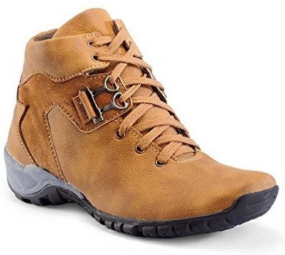 Desi Saga Boys Lace Casual Boots(Brown)