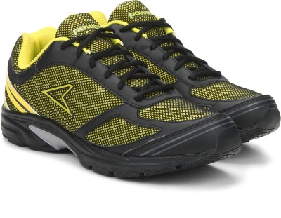 Power MORTY Training & Gym Shoes For Men(Black, Yellow) at flipkart