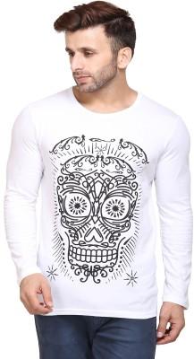 Unisopent Designs Printed Men Round or Crew White T Shirt