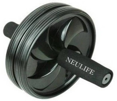 Neulife Unisex Ab Abdominal Roller For Home & Gym Workout Equipment to assist Sit Up Exercise Equipment Ab Roller Ab Exerciser(Black)  available at flipkart for Rs.210