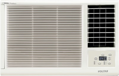 Voltas 1 Ton 3 Star Window AC  - White(123LZF, Copper Condenser)