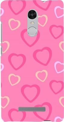 Snapdilla Back Cover for Mi Redmi Note 3, Mi Redmi Note 3 Pro(Cute Looking Pink Colour Hearts Colourful Love Mobile Case, Polycarbonate)