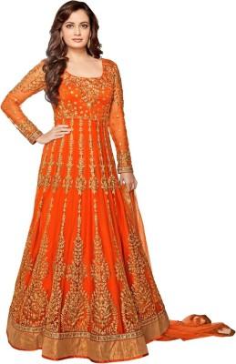 Jesti Designer Net Self Design Semi-stitched Salwar Suit Dupatta Material