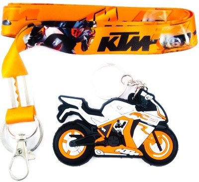 ShopTop Fabric KTM ID TAG with Rubber bike Locking Key Chain  available at flipkart for Rs.151