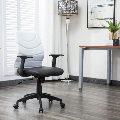 Flipkart Perfect Homes Warren Leatherette Office Arm Chair(White)