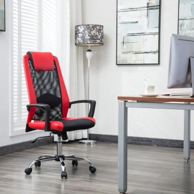 Flipkart Perfect Homes Rex Fabric Office Executive Chair(Red)