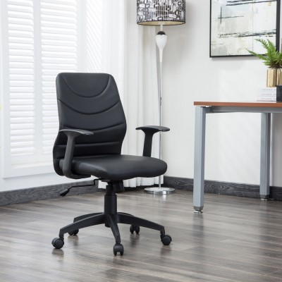 Flipkart Perfect Homes Howard Fabric Office Executive Chair(Black)