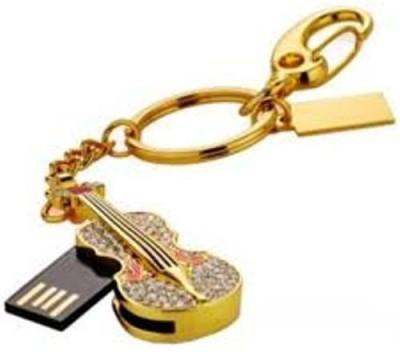 Microware Golden Guitar Shape 8 GB Pendrive 8  GB Pen Drive Gold