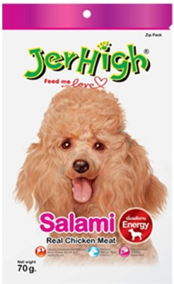 Goofy Tails Jer High Salami 70G Chicken Dog Treat(70 g, Pack of 12)