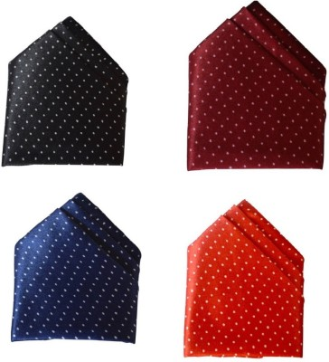 FashMade Polka Print Silk Pocket Square