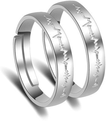 ec15cd6b6 66% OFF on MYKI King & Queen Adjustable Couple Rings Sterling Silver  Swarovski Zirconia 24K White Gold Plated Ring on Flipkart | PaisaWapas.com