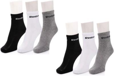 REEBOK Men & Women Ankle Length Socks(Pack of 6)