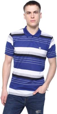 HARBOR N BAY Striped Men's Polo Neck Blue T-Shirt