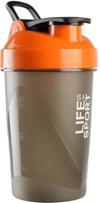 Xudo Fitness Gym Protein Shaker 400 ml Bottle, Shaker, Sipper, Can(Pack of 1, Orange)  available at flipkart for Rs.259