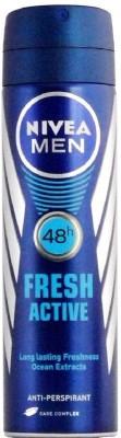 Nivea Men Imported Fresh Active 48h Deodorant Spray  -  For Men(150 ml)  available at flipkart for Rs.295