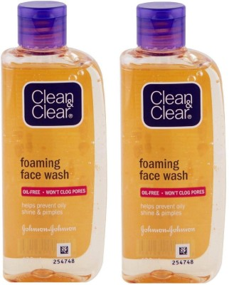 Clean & Clear Foaming Oil Free 100ml (Pack of 2) Face Wash(100 ml)