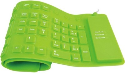 Green 7 inch keyboard Wired USB Tablet Wired USB Tablet Keyboard(Black)