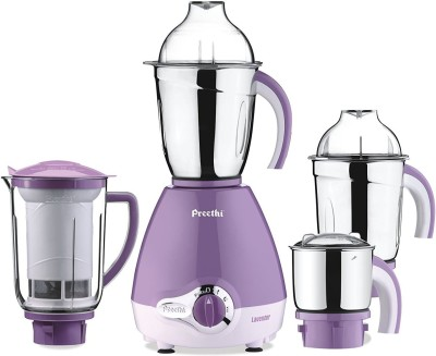 Preethi Lavender 600 Mixer Grinder(Purple, 3 Jars)  available at flipkart for Rs.4500