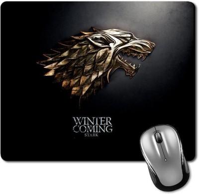 CRAZYINK MPMetal Winter Coming Mousepad(Multicolor)
