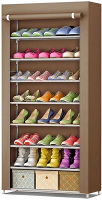 FurnCentral Fabric Shoe Stand(8 Shelves)
