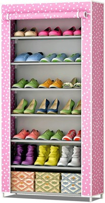 FurnCentral Fabric Shoe Stand(7 Shelves)