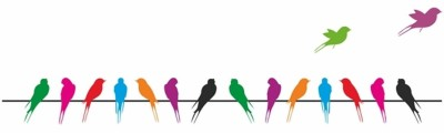 Sree Cart Small Wall sticker decals Colourful parrot Sticker(Pack of 1)  available at flipkart for Rs.99