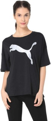 Puma Solid Round Neck Casual Women