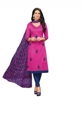 Narayan Creations Chanderi Cotton Embroidered Salwar Suit Dupatta Material(Un-stitched)