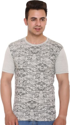 Shaun Printed Men Round Neck Grey T-Shirt Flipkart