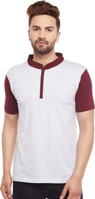 The Dry State Solid Men Mandarin Collar Multicolor T-Shirt