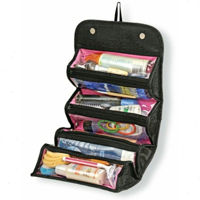 N-STORE Roll N Go 4 In 1 Travel Buddy Cosmetic Shaving Toiletry Bag Jewellery Storage Organizer Travel Toiletry Kit(Multicolor)  available at flipkart for Rs.349
