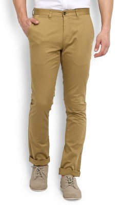 John Miller Slim Fit Men's Beige Trousers