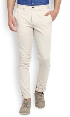 John Miller Slim Fit Men's Cream Trousers