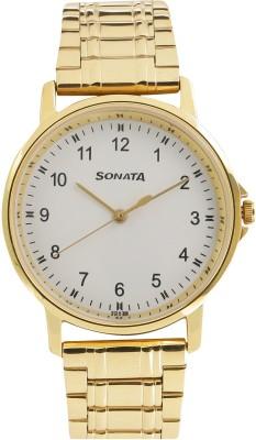 Sonata 77083YM01 Gents Essentials Analog Watch For Men