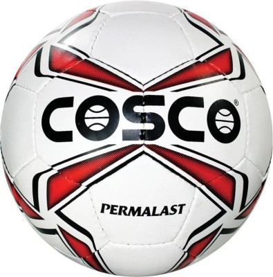 Cosco Permalast Football - Size: 5(Pack of 1, White, Red)  available at flipkart for Rs.645