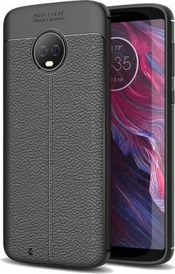 Golden Sand Back Cover for Motorola Moto G6, Lenovo Moto G6 Leather Black, Shock Proof