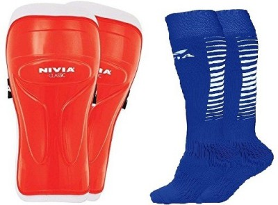 Nivia Combo of Two- One Pair of 'Classic' Shin Guard and one Pair of 'Encounter' Socks (Color on availability)- Football Kit  available at flipkart for Rs.418