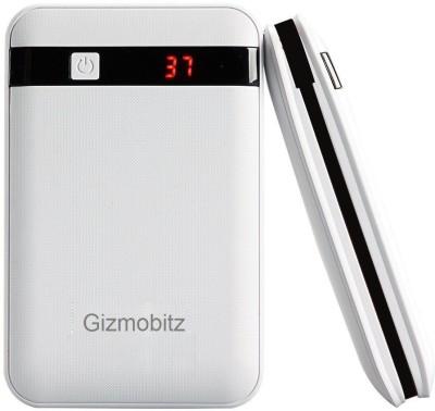 Gizmobitz 13000 Power Bank Silver, Lithium ion