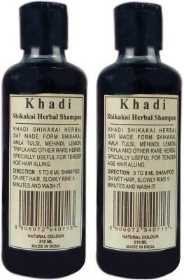 Khadi Herbal SHIKAKAI SHAMPOO-Natural Colour(420 ml)